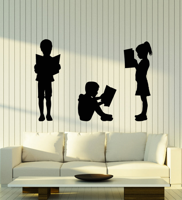 Vinyl Wall Decal Reading Children's Kids Library School Book Shop Stories Stickers Mural (g2863)