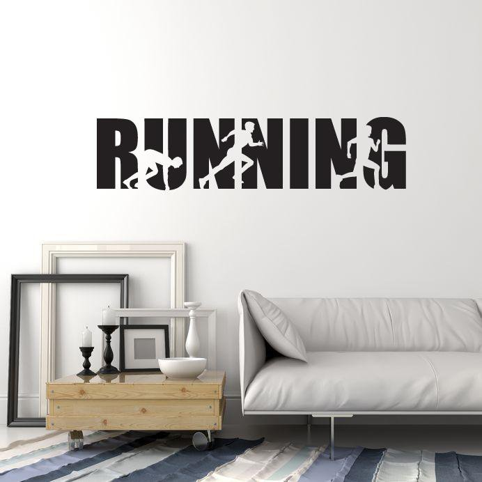 Removable Wall Decals For Runners Running Vinyl Decals Wall Art