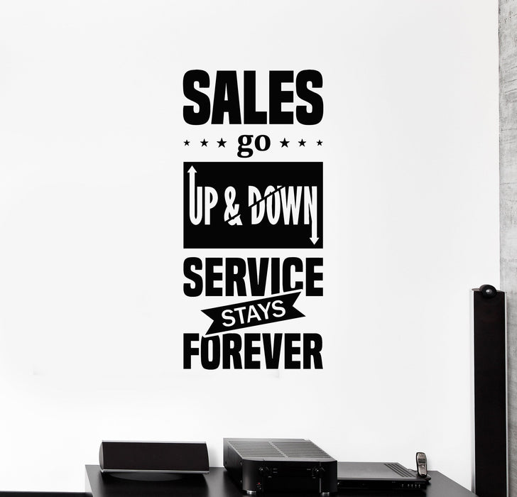 Vinyl Wall Decal Sales Service Quote Saying Lettering Office Motivating Decor Stickers Mural (ig5470)