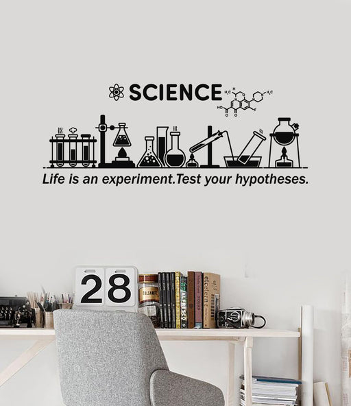 b0fb2e6b66f0 Vinyl Wall Decal Science Inspire Chemical Lab School Classroom Decor  Stickers Mural (ig5306)