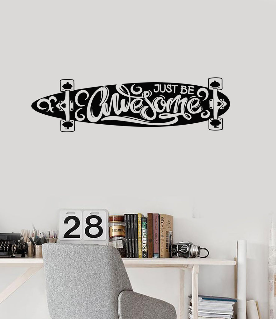 Skateboard Vinyl Wall Decal Quote Skateboarding Teenage Room Stickers Mural (ig5319)