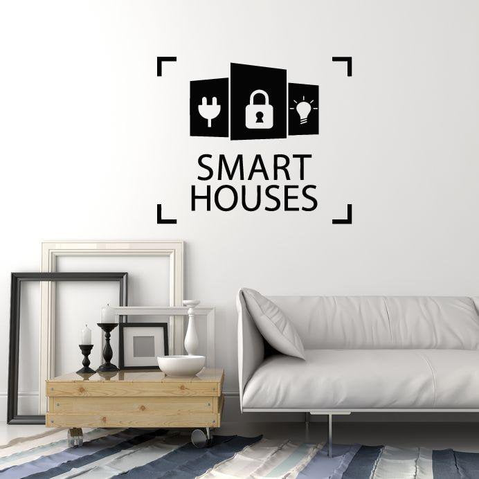 vinyl wall decal smart houses technology security internet things