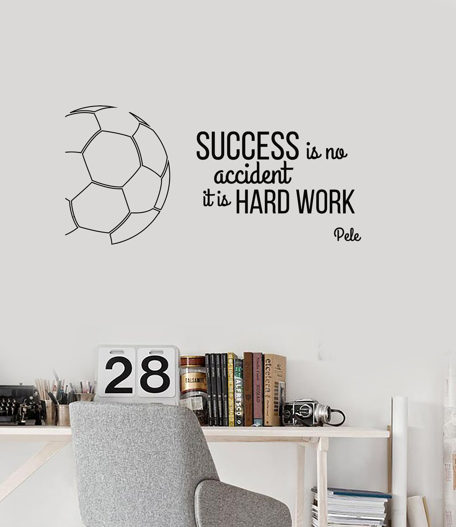 Vinyl Wall Decal Soccer Success Quote Sports Motivational Phrase Words  Stickers Mural (ig6148)