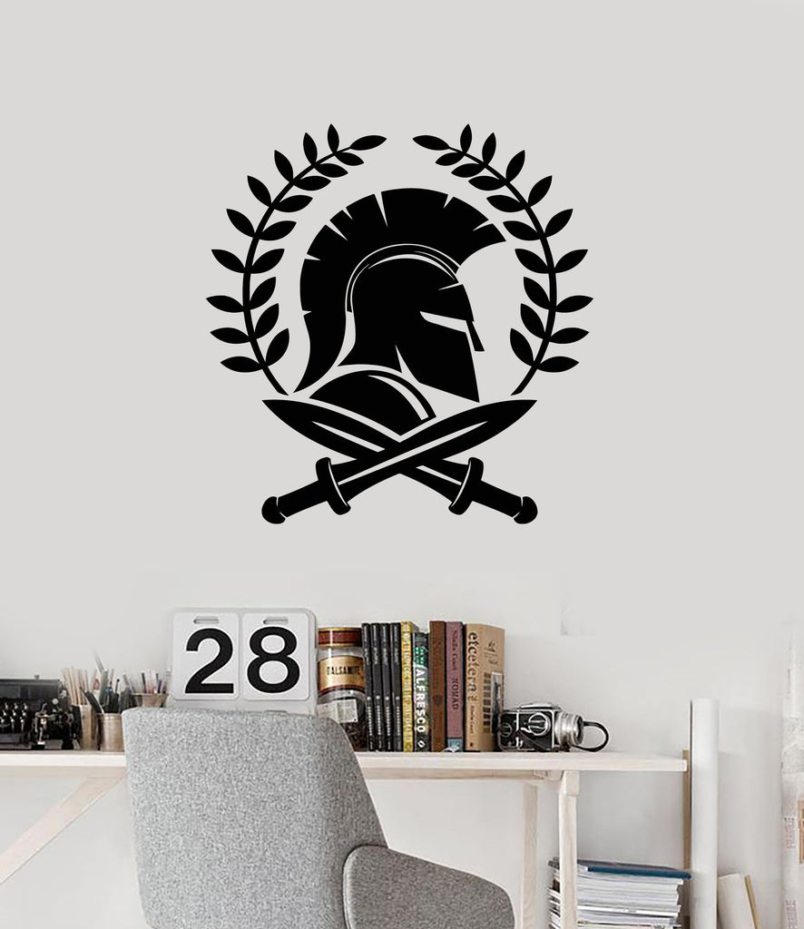 Spartan Warrior Vinyl Wall Decal Swords Ancient Greece World Stickers Mural (ig5329)