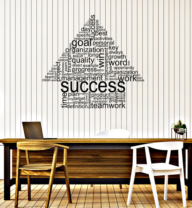 Vinyl Wall Decal Success Words Cloud Office Space Decor Room Teamwork Stickers Mural (ig6184)