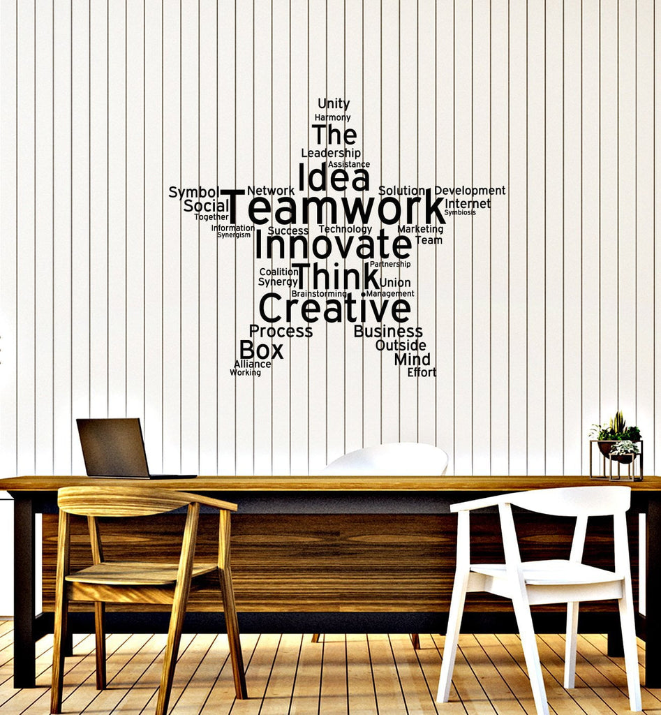 wall decal for office. Perfect Office Teamwork Vinyl Wall Decal Office Study Decoration Star Words Cloud Stickers  Mural Ig5453 Intended For