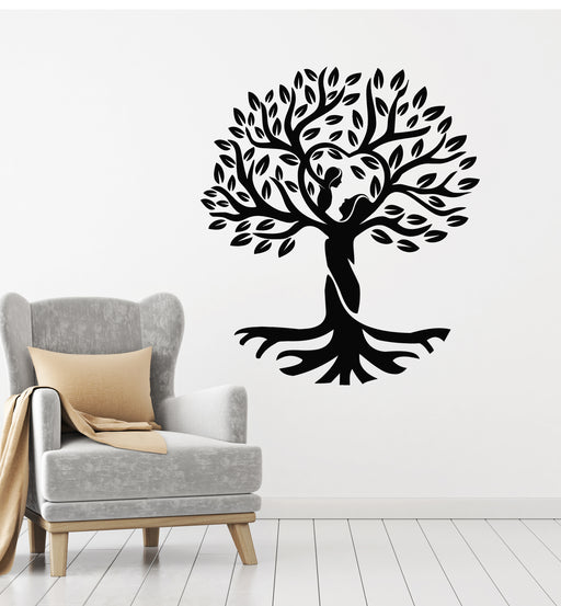 Wall Stickers Vinyl Decal Tree Roots Branches Birds Floral Decor z1721