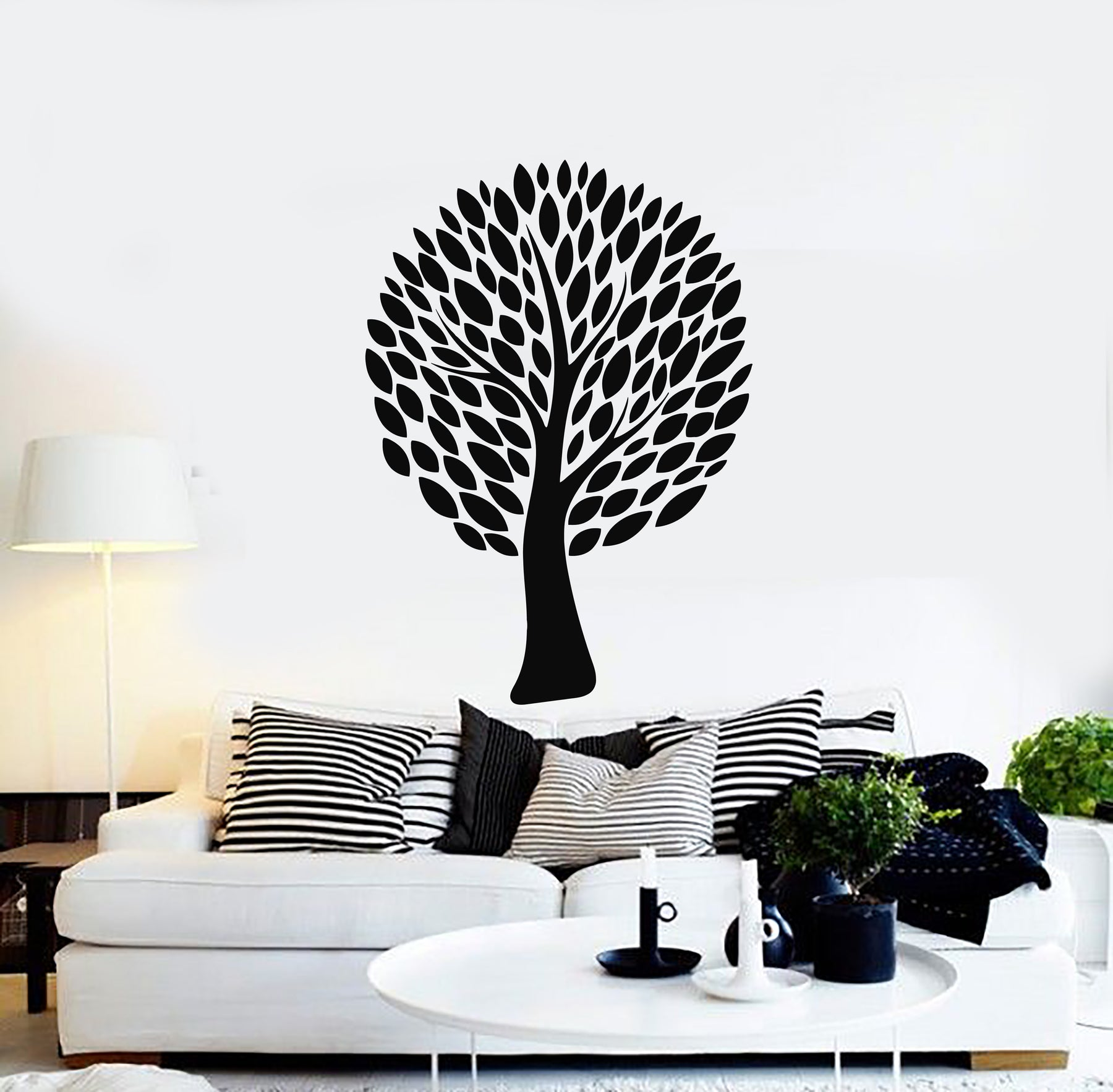 Vinyl Wall Decal Beautiful Tree Leaves Home Room Decor Idea Stickers Mural (g896)