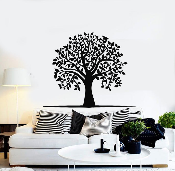 Vinyl Wall Decal Tree Leaves Children Room Home Decor Idea Stickers Mural (g913)