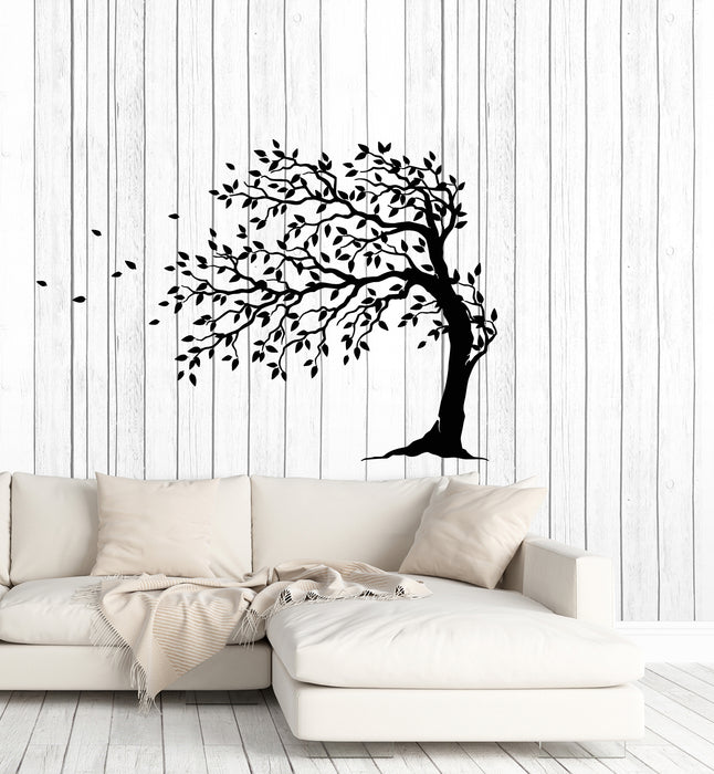 Vinyl Wall Decal Autumn Tree Leaves Nature Home Interior