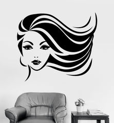 Vinyl Wall Decal Beauty Spa Salon Pretty Woman Hair Barbershop Stickers Unique Gift (289ig)