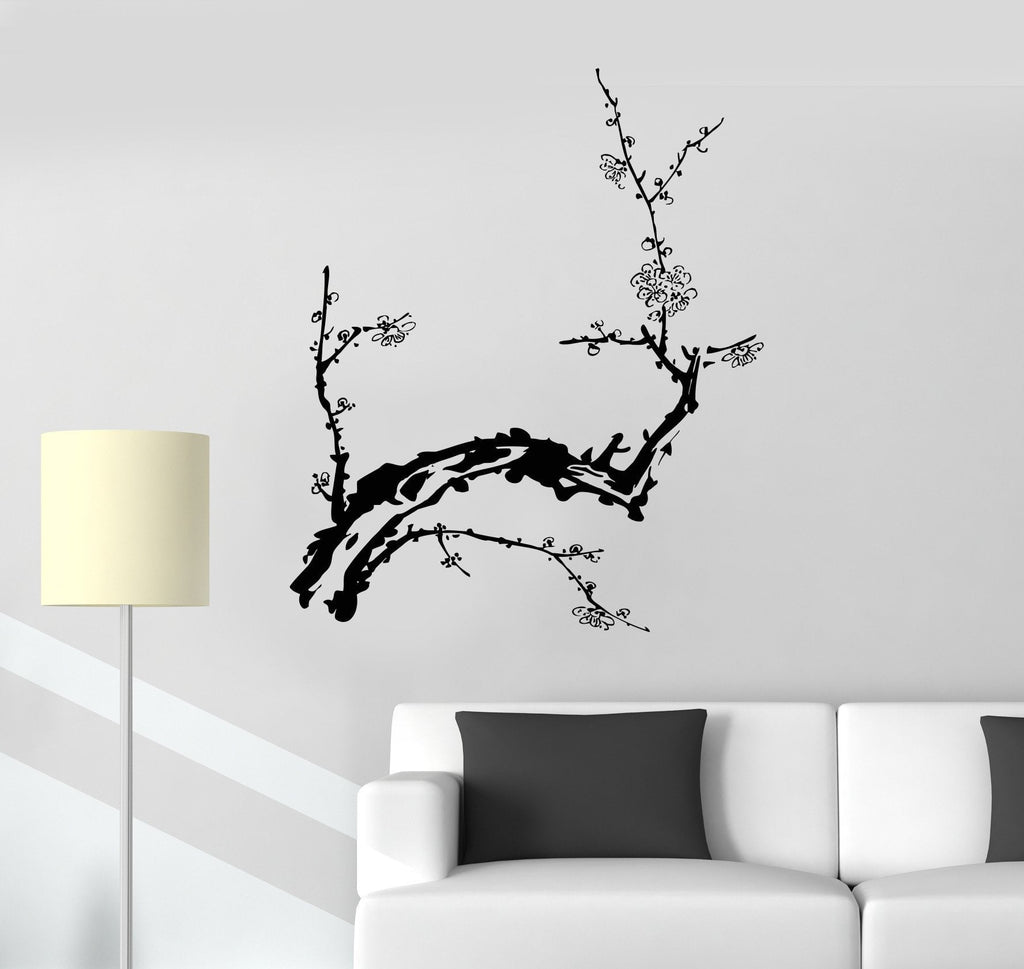 Vinyl Decal Branch Tree Beautiful Room Decor Wall Stickers Mural Unique Gift (007ig)