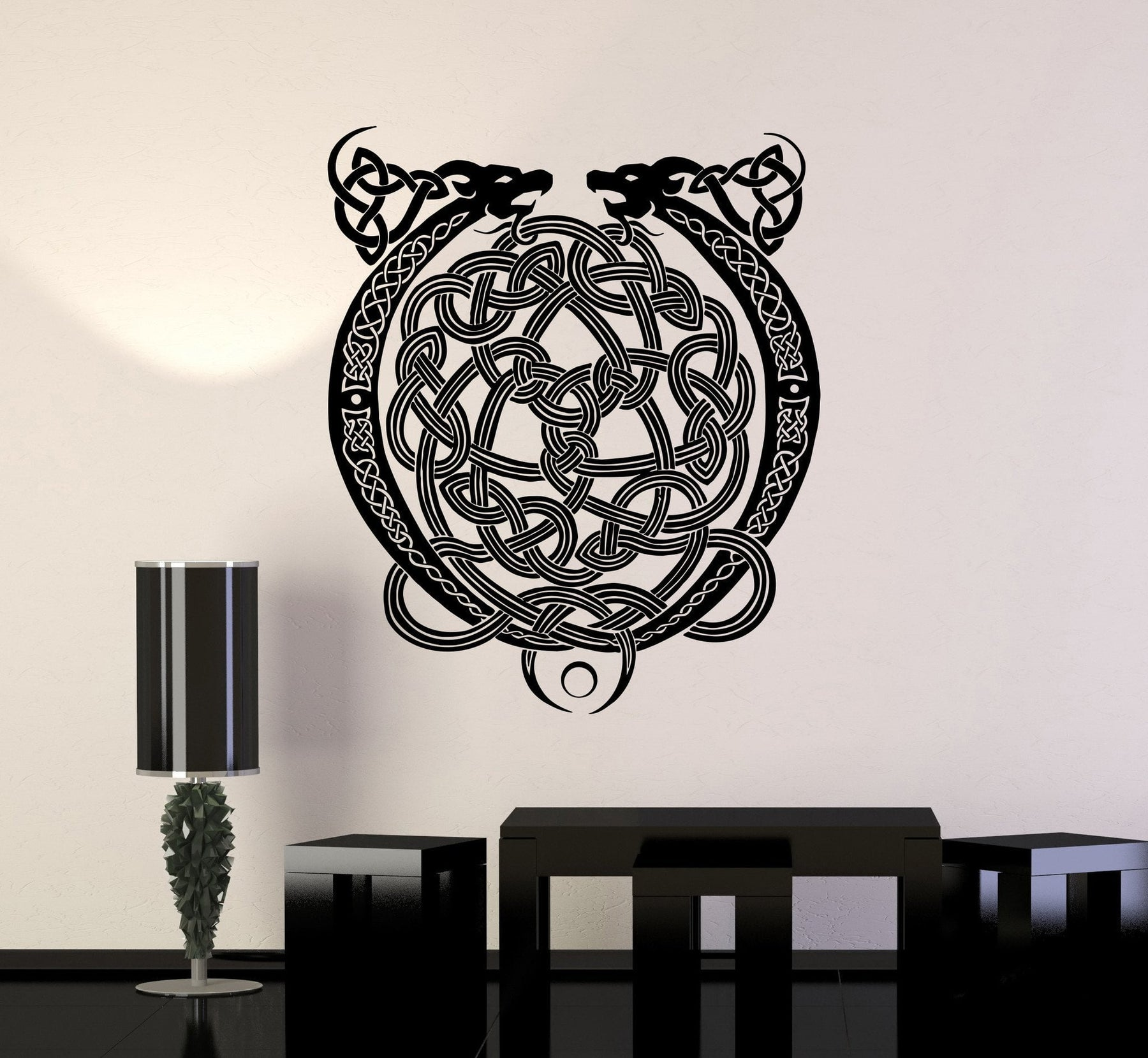 Vinyl decal celtic cross ornament dragon ireland irish pattern wall stickers unique gift ig2772