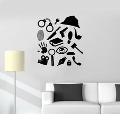 Vinyl Decal Police Detective Sherlock Holmes Style Wall Sticker Mural Unique Gift (ig2709)