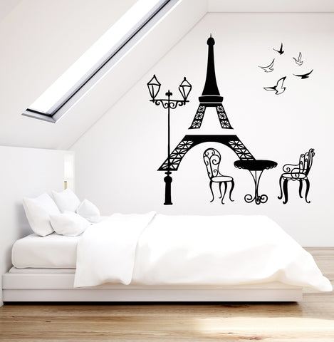 Awesome Vinyl Wall Decal Eiffel Tower Paris France Romance Landscape Stickers  Unique Gift (1903ig)
