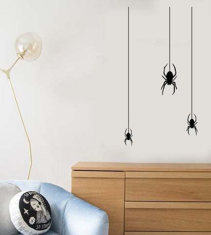 Vinyl Wall Decal Insect Spider Gothic Style Halloween Decor Stickers (3196ig)