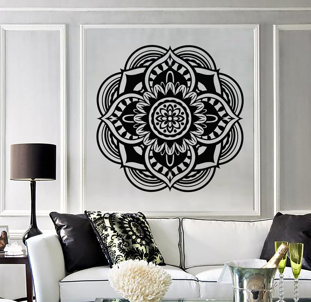 Vinyl Decal Mandala Buddhist Hindu Religion Symbol Wall Stickers