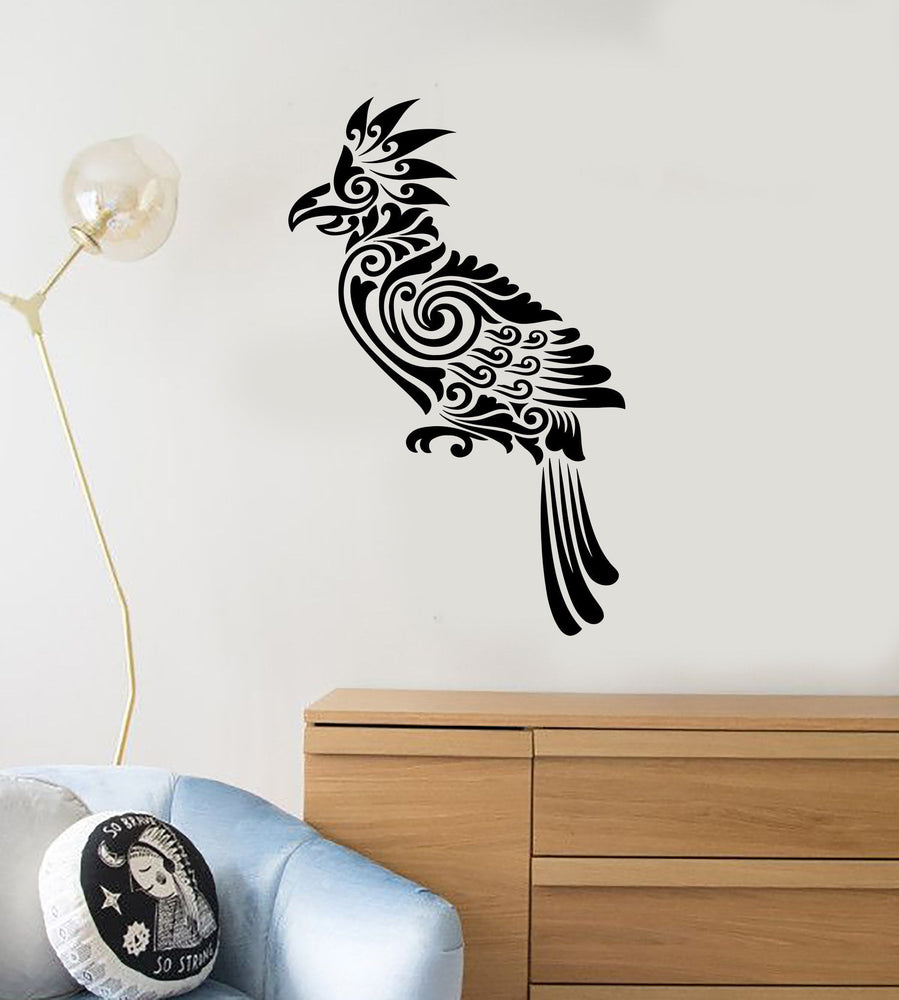Vinyl Decal Bird Tribal Decor Living Room Art Mural Wall Stickers Unique Gift (ig2617)