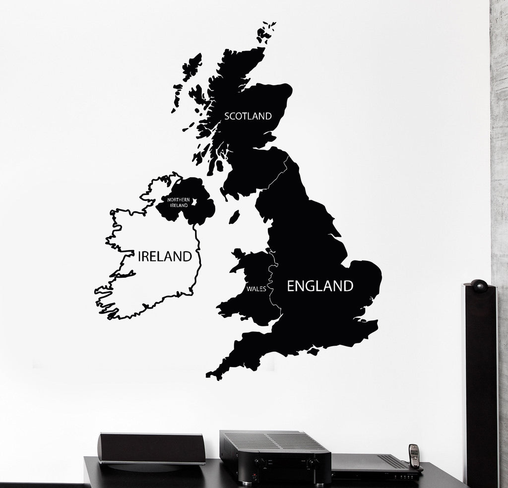 Vinyl wall decal great britain united kingdom uk map stickers unique vinyl wall decal great britain united kingdom uk map stickers unique gift 489ig gumiabroncs Gallery