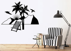 Vacations Wall Stickers Relax Beach Travel Agency Mountains Vinyl Decal (ig2388)