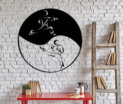 Vinyl Decal Martial Arts Fighting MMA Yin Yang Tao Taoism Wall Stickers Unique Gift (002ig)
