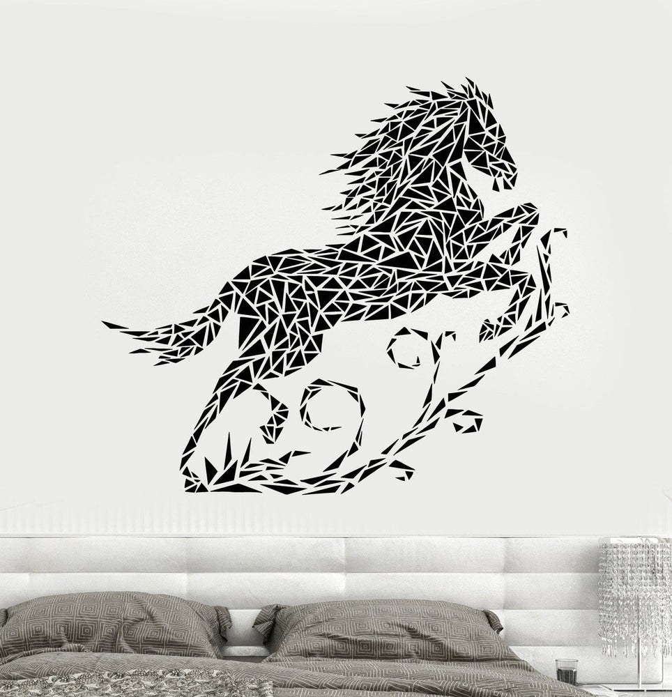 Vinyl Wall Decal Abstract Geometric Horse Pet Animal Art Decor Stickers Unique Gift (1933ig)