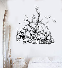 Vinyl Wall Decal Abstract Art Turtle Tree House Interior Stickers Unique Gift (ig4198)