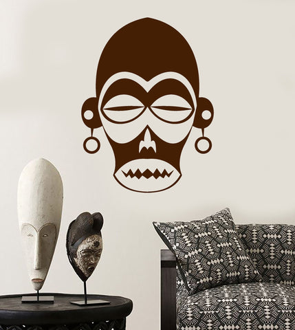 Vinyl Wall Decal African Mask Ethnic Decoration Room Africa Stickers (ig4041)