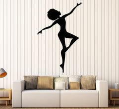 Vinyl Wall Decal African Woman Afro Hairstyle Silhouette Stickers Unique Gift (1473ig)