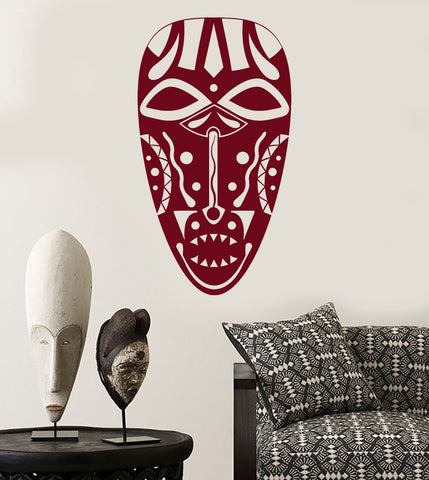 Vinyl Wall Decal Ancient African Native Mask Stickers Unique Gift (1594ig)
