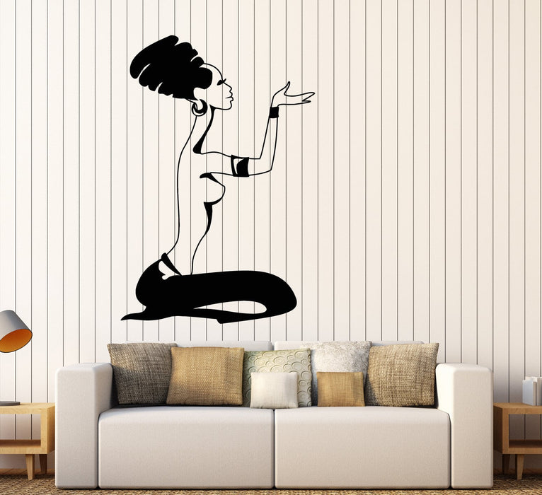 Vinyl Wall Decal African Praying Woman Turban Native Ethnic Style Stickers Unique Gift (1706ig)