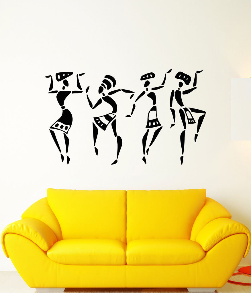 Vinyl Wall Decal African People Natives Ethnic Style Stickers Unique ...