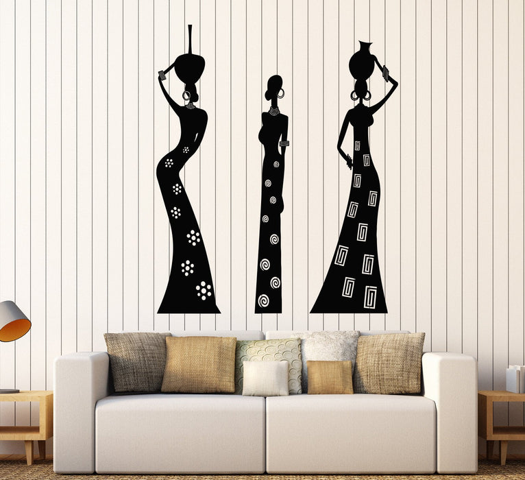 Vinyl Decal Wall African Woman Native Black Girls Ethnic Style Stickers Unique Gift (1495ig)