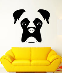 Vinyl Wall Decal Abstract Boxer Dog Pet Head Stickers (2425ig)