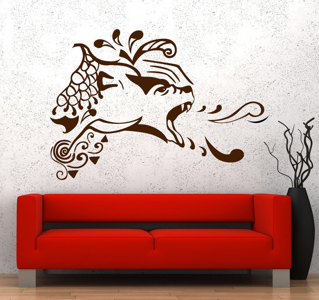 Vinyl Wall Decal Bear Predator Animal Tribal Stickers Unique Gift (676ig)