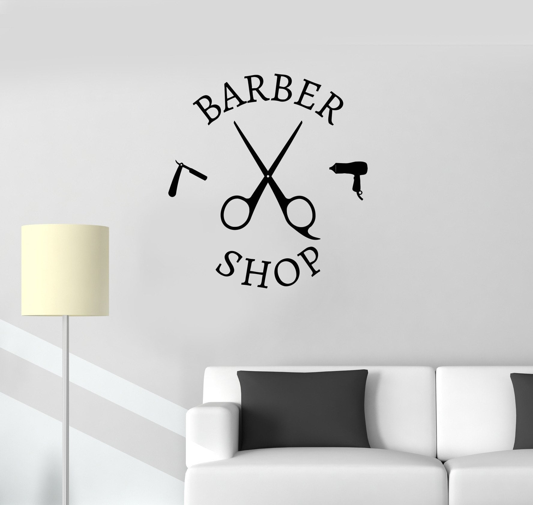 Vinyl Decal Barbershop Barber Tools Hair Beauty Hairdresser Wall Sticker Mural Unique Gift (ig2707)