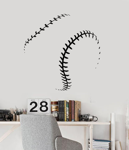 Vinyl Wall Decal Baseball Ball Fan Decor Boys Man Gift Stickers Unique Ig4765