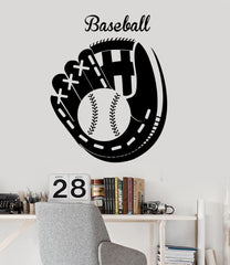Vinyl Wall Decal Baseball Glove Sports Fan Decor Garage Sport Stickers Unique Gift (ig3325)