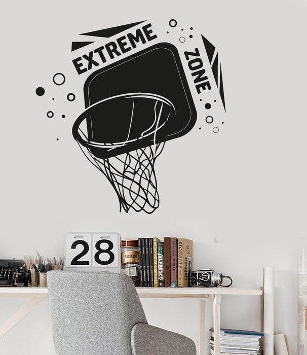 Vinyl Wall Decal Basketball Hoop Boys Room Sports Decor Stickers Unique Gift (ig3475)