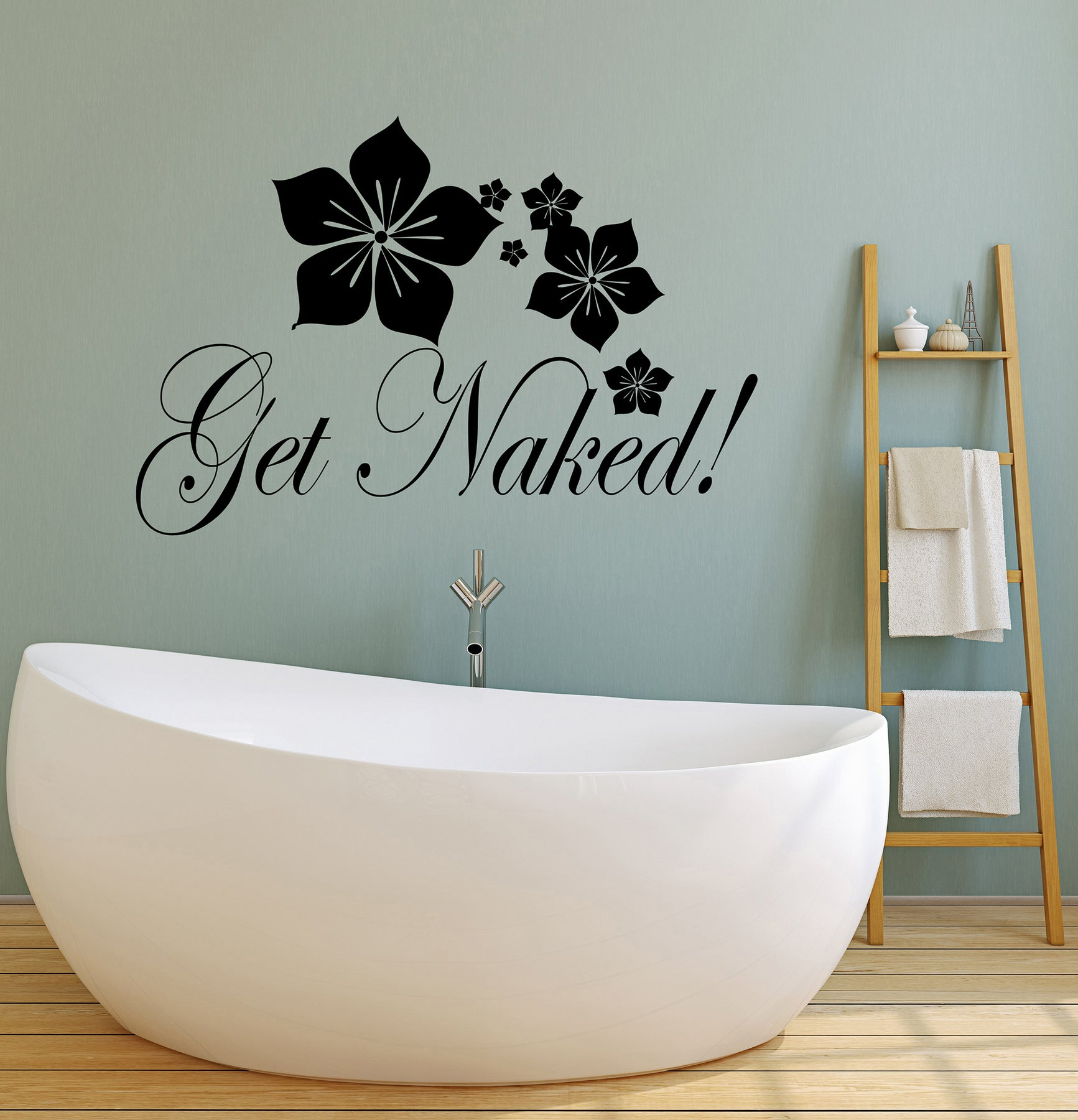 Get Naked Wall Decor Get Naked Decal Bathtub Stickers Wall Decals Bathroom Wall Decor Bathroom Wall Stickers Bathtub Decals