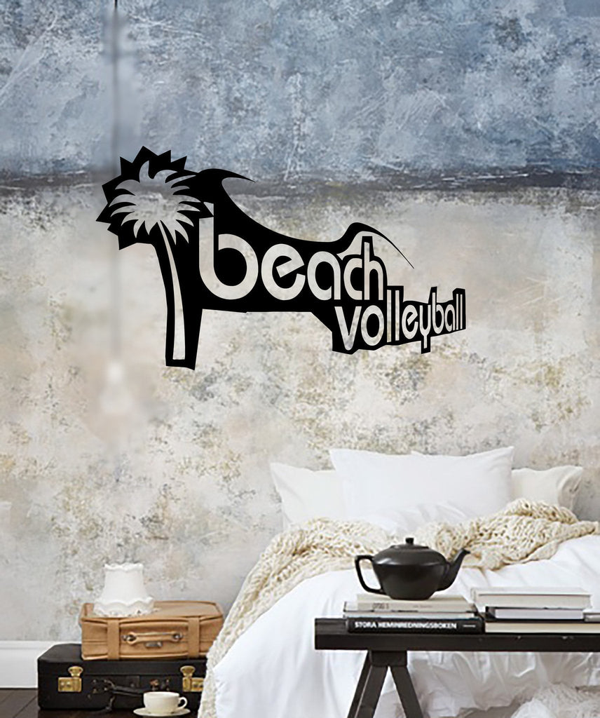 Vinyl Decal Beach Volleyball Sport Recreation Leisure Wall Sticker for Beach House Unique Gift (ig2333)