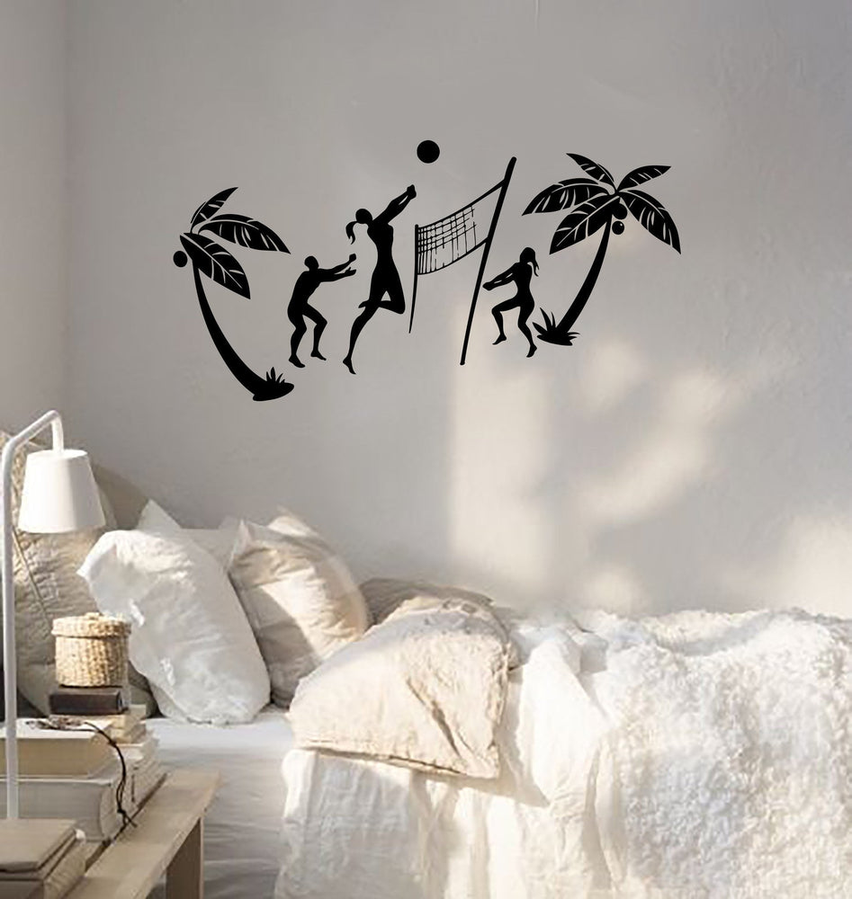 Wall Sticker Vinyl Decal Relax Beach Volleyball Sport Recreation Unique Gift (ig1820)