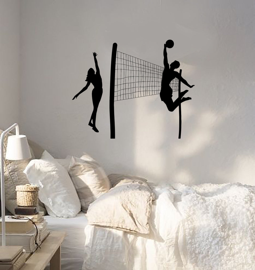 Wall Sticker Vinyl Decal Beach Volleyball Sports Leisure Relax (ig1865)