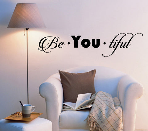 Vinyl Wall Decal Stickers Motivation Quote Words Beautiful Inspiring Letters 2031ig (22.5 in x 5 in)