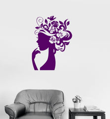 Vinyl Wall Decal Beauty Salon Woman Spa Hair Barbershop Stylist Stickers Unique Gift (069ig)