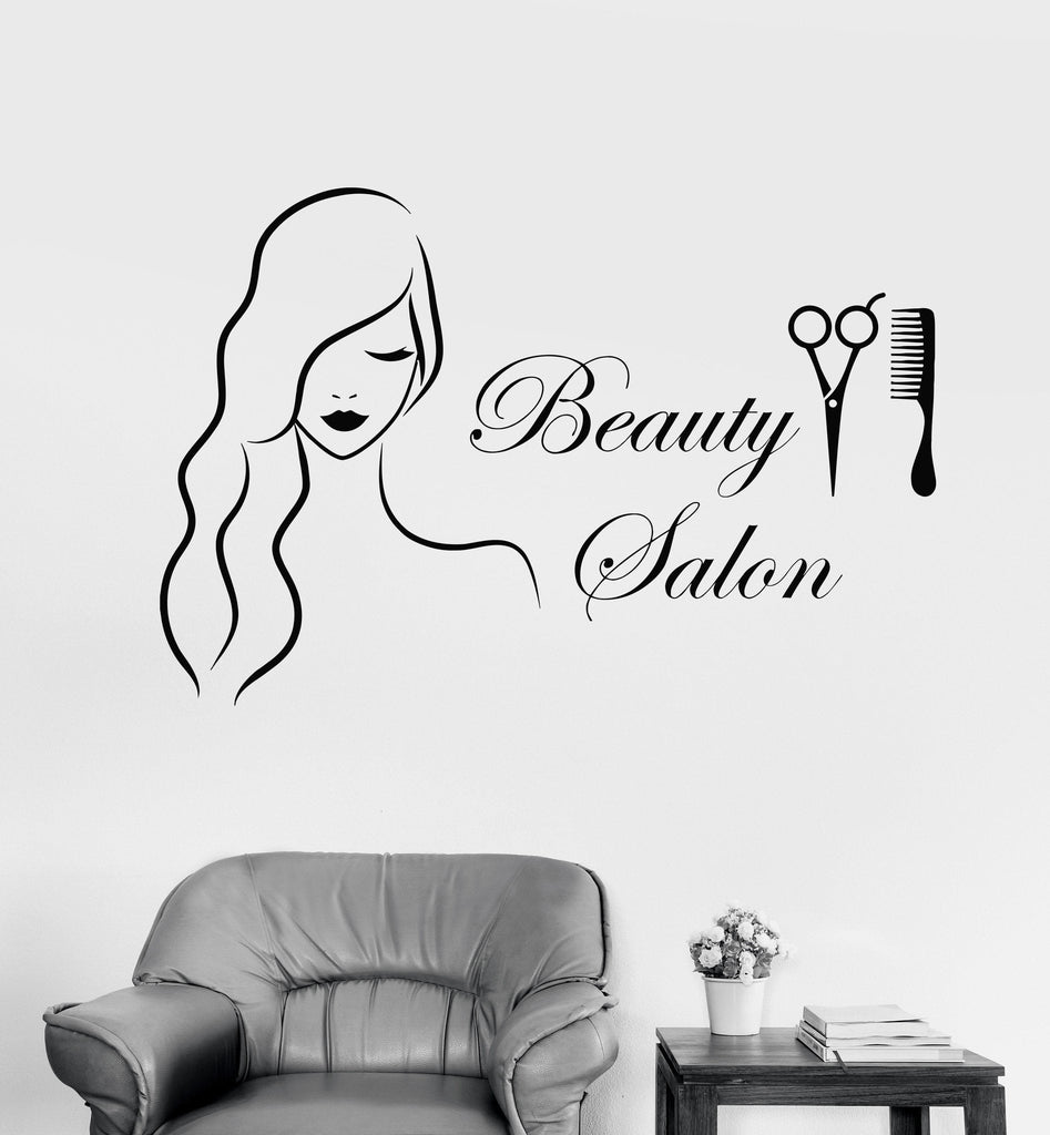 Vinyl wall decal beauty salon barbershop hairdresser stickers unique g wallstickers4you