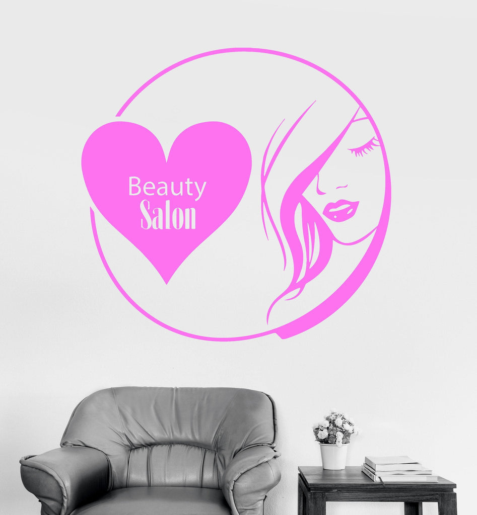 Vinyl Wall Decal Beauty Salon Woman Stylist Hair Nail Hairdresser Stickers Unique Gift (ig3306)
