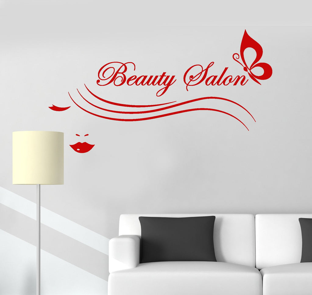 Vinyl Wall Decal Beauty Salon Logo Fashion Woman Spa Stickers Unique Gift (ig4032)
