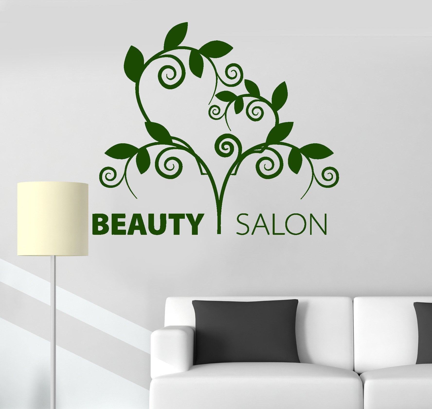 Vinyl Wall Decal Beauty Salon Nature Spa Hair Stylist Stickers Unique Gift (ig3426)