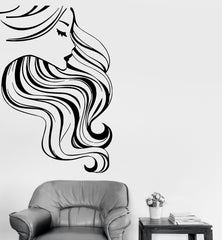 Wall Stickers Vinyl Decal Hot Sexy Pretty Woman Girl Beauty Hair Salon (ig1706)